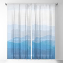 Smoky Mountain National Park Sunset Layers IV - Nature Photography Sheer Curtain
