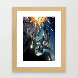 The Silver Ninja Night Explosion Framed Art Print