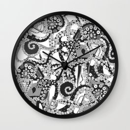 tentacles mono Wall Clock