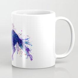 Running Horse Watercolor Silhouette Coffee Mug