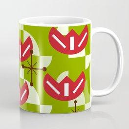 Atomic Era Funky Flowers (Green) Coffee Mug