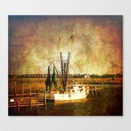 Old Shrimp Boat Canvas Print