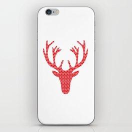 Red deer head iPhone Skin