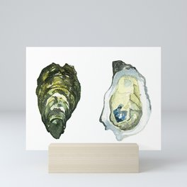 Watercolor Atlantic Oysters #1 by Artume Mini Art Print