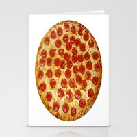 pizza Stationery Cards featuring Pizza by I Love Decor
