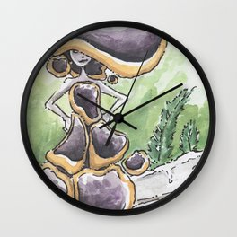 Empire of Mushrooms: Bulgaria inquinans Wall Clock