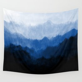 Mists - Blue Wall Tapestry