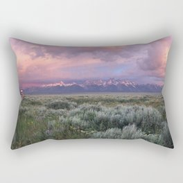 Teton Range Sunrise Rectangular Pillow