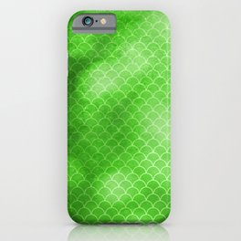 Green Flash small scallops pattern with texture iPhone Case