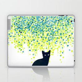 Cat in the garden under willow tree Laptop & iPad Skin