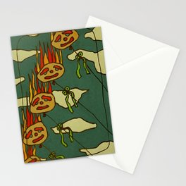 Vlammend in de wind Stationery Cards