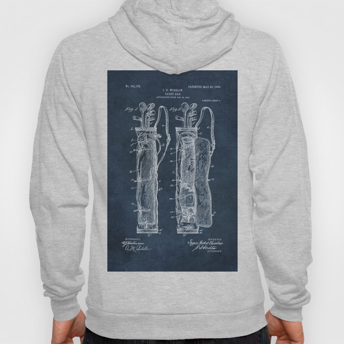 winslow caddy bag patent art Hoody