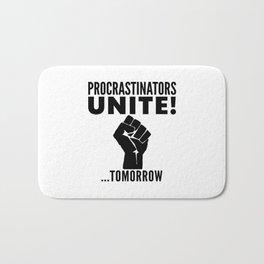 Procrastinators Unite Tomorrow Bath Mat