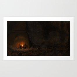 Pyromancy Flame Art Print