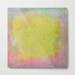 Thick pastel colored  texture Metal Print
