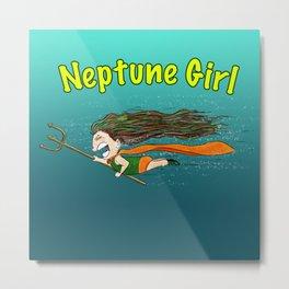 Neptune Girl Metal Print