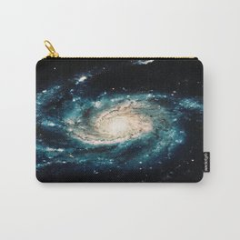 Ocean Blue Teal Spiral Galaxy Carry-All Pouch