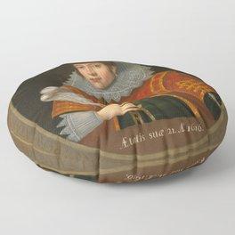 "Simon van de Passe ""Pocahontas"" Floor Pillow"