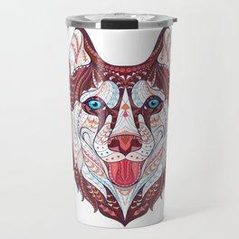 Husky Design Travel Mug