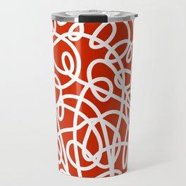 Rooster Doodle Travel Mug