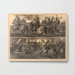 Iconographic Encyclopedia of Science, Literature and Art (1851) - British and German Knights Metal Print