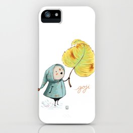 Goji and the leaf iPhone Case