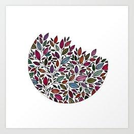Floral Leaf Illustration *P07 002 Art Print
