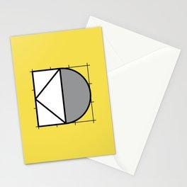 D // Perfectionist Alphabet (Pantone Illuminating + Ultimate Gray) Stationery Cards