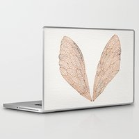 rose Laptop & iPad Skins featuring Cicada Wings in Rose Gold by Cat Coquillette