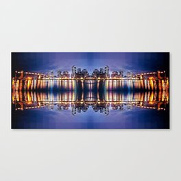 Vancouver Mirrored Canvas Print