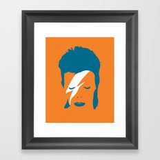 Ziggy Stardust - Orange Framed Art Print