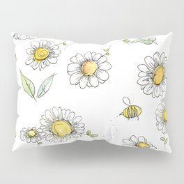 Bees and Daisies Pillow Sham