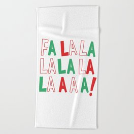 Fa La Christmas Beach Towel