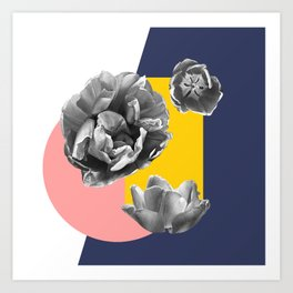 Collateral geometric florals Art Print