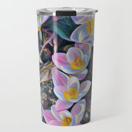 crocuses-spring is coming Travel Mug