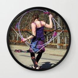 The Circle Inside the Square (Hula Hoop Series) Wall Clock
