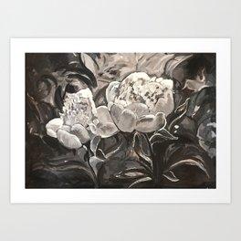 Peonies - 2016 - Watercolour on papaer - Michael G. Wilson Art Print