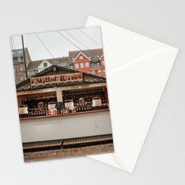 Mulled Wine Christmas stall at Nyhavn, Copenhagen Stationery Cards