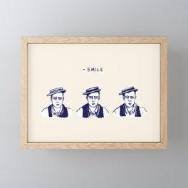 Buster Keaton Smile Framed Mini Art Print