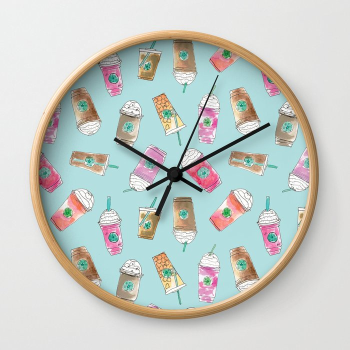 Coffee Crazy Toss in Blueberry Wall Clock