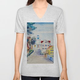 Dreams of New England on a Sun-drenched Summer's Day Unisex V-Neck