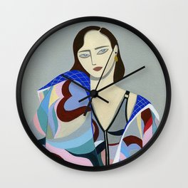 Lay Back Wall Clock