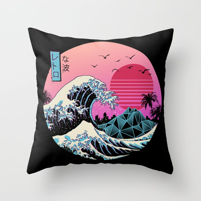 The Great Retro Wave Throw Pillow