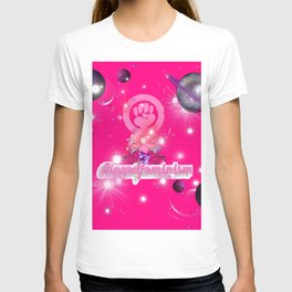 #IneedFeminism - Pink Galaxy T-shirt