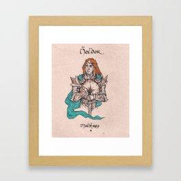 Noldor - Maedhros Framed Art Print