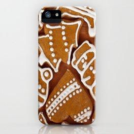 Christmas Gingerbread Pattern  iPhone Case