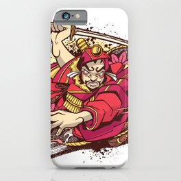 Japanese warrior red iPhone Case