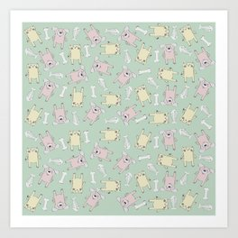 Raining Cats and Dogs (Patterns Please) Art Print