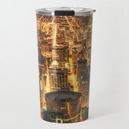 chicago aerial view Travel Mug