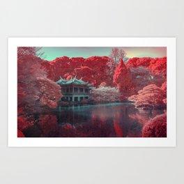Temple in the Garden Art Print